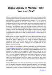 Digital Agency In Mumbai- Why You Need One.pdf