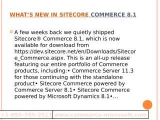Commerce Server 2009  +1-855-785-2511  Sitecore Commerce Server.pptx