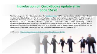 How to QuickBooks update error code 15270.pptx