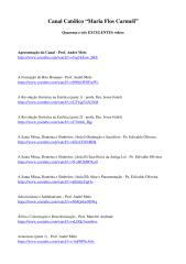 43 Excelentes Vídeos Católicos - Canal 'Maria Flos Carmeli'.pdf