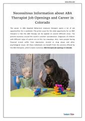 Necessitous Information about ABA Therapist Job Openings and Career in Colorado.pdf