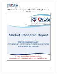 2017 Market Research Report on Global Micro Welding Equipments Industry.pdf