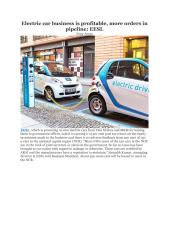 Electric car business is profitable, more orders in pipeline- EESL .pdf