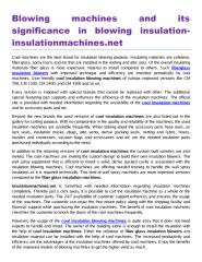 Blowing machines and its significance in blowing insulationinsulationmachines. net.pdf
