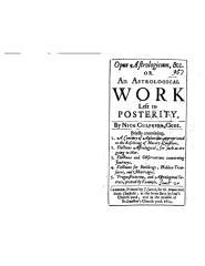Nicholas Culpepper - Opus astrologicum.pdf