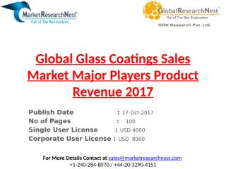Global Glass Coatings Sales Market Major Players Product Revenue 2017.pptx