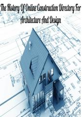 The History Of Online Construction Directory For Architecconsture And Design.pdf