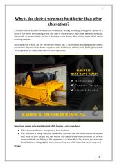 Why is the electric wire rope hoist better than other alternatives.pdf
