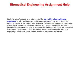 biomedical engineering assignment help.pdf