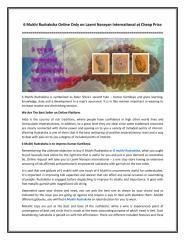6 Mukhi Rudraksha Online Only on Laxmi Narayan International at Cheap Price.pdf