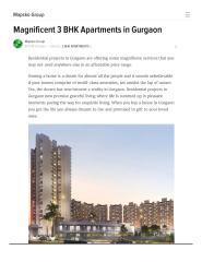 Magnificent 3 BHK Apartments in Gurgaon.pdf