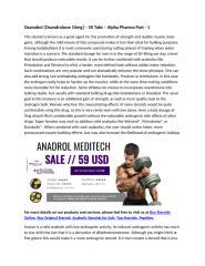 Oxanabol [Oxandrolone 10mg] – 50 Tabs – Alpha Pharma Part - 1.docx