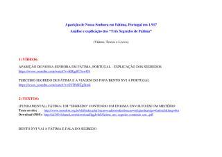 Os Três Segredos de Fátima - Análise e Explicação.pdf