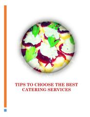 Tips To Choose the Best Catering Services.pdf