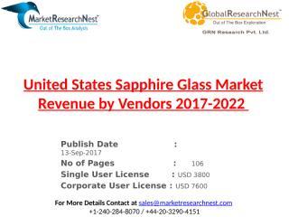 United States Sapphire Glass Market Revenue by Vendors 2017-2022.pptx